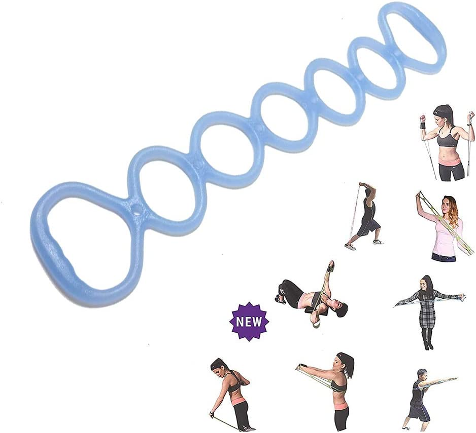 Mastere 7 Ring Stretch Exercise Band - Miracle Miles Band, Resistance Bands,Yoga Stretching, Arm, Shoulders Foot, Leg Butt Fitness Home Gym Physical Therapy Band