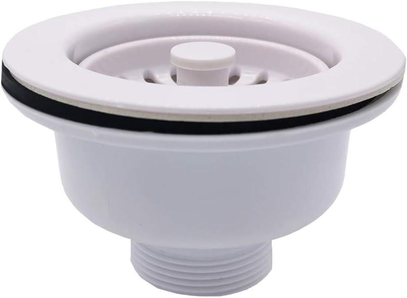 Qrity Fregadero de cer/ámica Fregadero Colador de fregadero de m/ármol con cesto extra/íble para desechos profundos /ø 114 mm G1/½