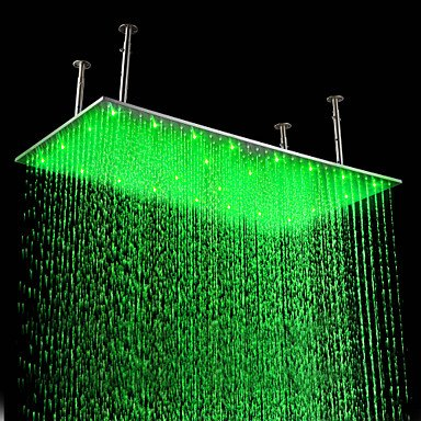 Rain Shower Contemporary LED/Rainfall Stainless Steel Brushed Kitchen and bathroom supplies