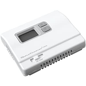 ICM Controls SC1600L Simple Comfort Non-Programmable Heat Only Thermostat with Backlit Display, Battery Powered, No Fan Output