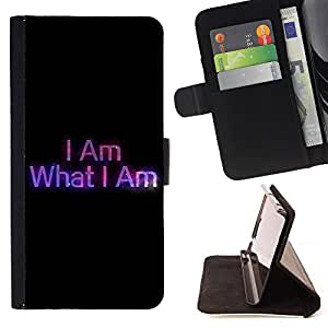 Jordan Colourful Shop - FOR Sony Xperia Z3 Compact - I am who i am - Leather Case Absorciš®n cubierta de la caja de alto impacto