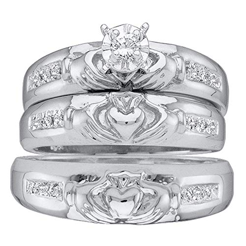 Mia Diamonds 14kt White Gold His & Hers Round Diamond for sale  Delivered anywhere in USA