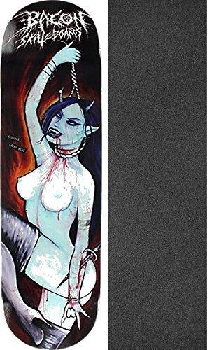 批評バイパス手のひらベーコンSkateboards Suicidal Satan Slutスケートボードデッキ – 8.75