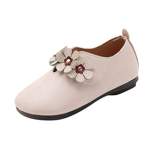 629a285851c Mitlfuny Niños Zapatos de Cuero Primavera Verano Fiesta Princesa Zapato  para bebé Niñas Flores Antideslizantes Suela