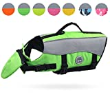 Vivaglory Dog Life Jackets with Extra Padding for Dogs, X-Large - Extra Reflective Green