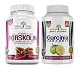 Diet Pills for Men and Women, Garcinia Cambogia Pure Extract 1600mg and Pure Forskolin Extract for Weight Loss 250mg, Gluten & Soy Free, 60 Veggie Premium Capsules, Made In USA, Metabolism Booster