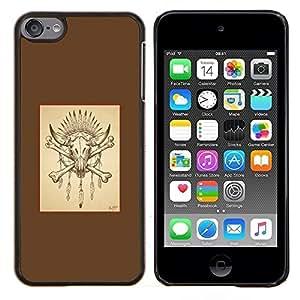 EJOOY---Cubierta de la caja de protección para la piel dura ** Apple iPod Touch 6 6th Touch6 ** --Huesos del búfalo