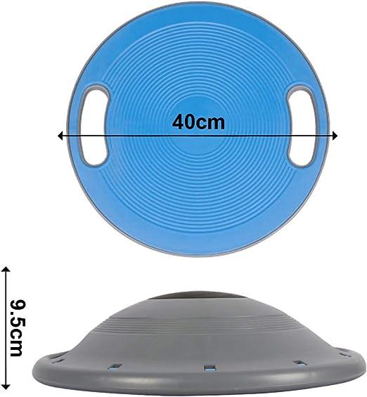 rutschsichere Unter- und Oberseite Therapiekreisel f/ür Physiotherapie Durchmesser 40cm Gleichgewichtsbrett Wackelbrett Best Goods Balance Board mit seitlichen Griffen