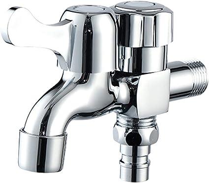 EFE Fe - Grifo multifunción, para baño, jardín, Piscina, Doble Salida: Amazon.es: Hogar