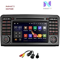 MCWAUTO For Mercedes-Benz ML Class Quad Core Android 7.1 Car DVD GPS Navigation Multimedia Player Car Stereo Radio 3G Wifi Bluetooth Steering Wheel Control Remote with Rear Camera