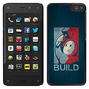 LECELL--Funda protectora / Cubierta / Piel For Amazon Fire Phone -- Construir Cartel retro --