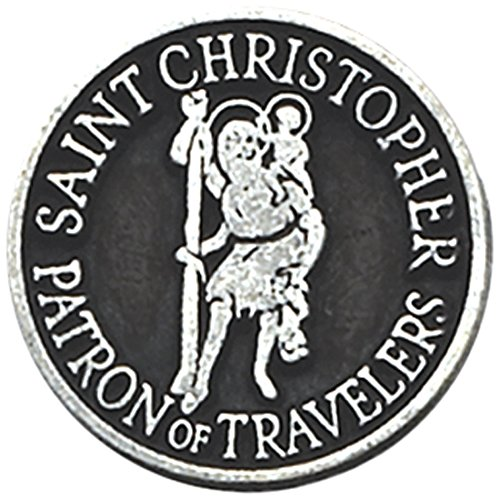 Charm Metal Tokens - Cathedral Art Saint Christopher Pocket Token, 1-Inch