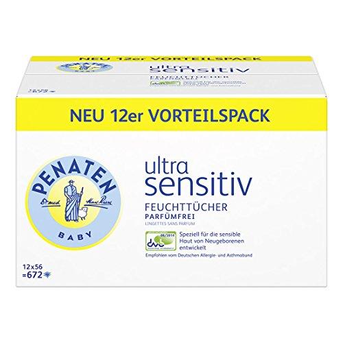 Penaten Ultra Sensitiv Tücher parfümfrei, 1er Pack (1 x 672 Stück)