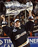 """Teemu Selanne Anaheim Ducks Autographed 8"""" x 10"""" with Cup Photograph - Fanatics Authentic Certified - Autographed NHL Photos"""