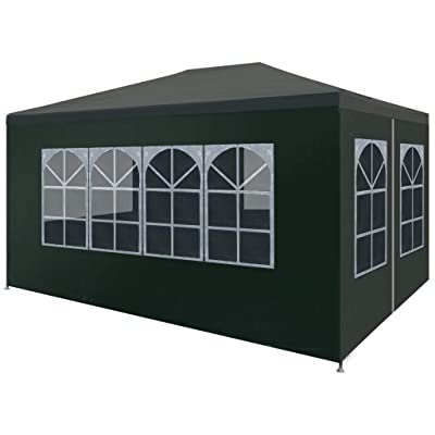 "vidaXL Party Tent 9'10""x13'1"" Green: Garden & Outdoor"