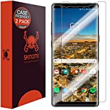 Electronics : Galaxy Note 8 Screen Protector (Case Friendly)(2-Pack), Skinomi TechSkin Full Coverage Screen Protector for Galaxy Note 8 Clear HD Anti-Bubble Film