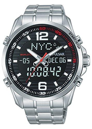 Pulsar Reloj Analógico Unisex con Correa de Chapado En Acero Inoxidable - PZ4001X1: Pulsar: Amazon.es: Relojes