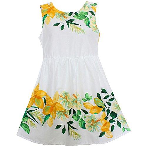 Shybobbi Fashion Girls Dress Yellow Flower Print Cotton Dresses Party Pageant Princess Children Clothes Size 2 10  10  Yelllow