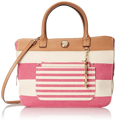 Tommy Hilfiger Lexi Travel Tote RaspberryNatural One Size
