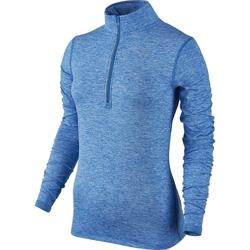 Nike Element Half Zip - Camiseta de manga larga para mujer Azul (Lt Photo Blue / Htr)