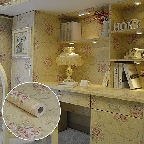 Vintage Rose Wallpaper - SimpleLife4U Vintage Rose Contact Paper Peel& Stick Shelf Liner Drawer Locker Sticker Beige 17.7 Inch By 9.8 Feet