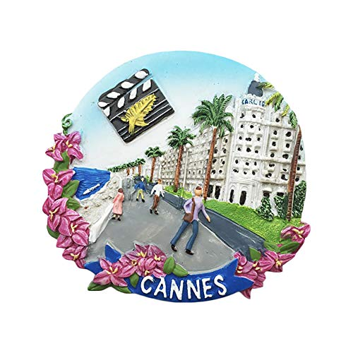 (Cannes France 3D Refrigerator Magnet Tourist Souvenirs Resin Magnetic Stickers Fridge Magnet Home & Kitchen Decoration from China)