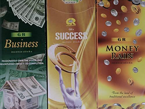 (GR Business Success Money Rain Combo Set (120 x 3 = 360 Incense)