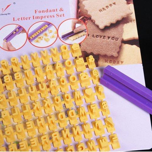 Letter and Number Impress DIY Mold Stamper Tools Biscuit Cake Fondant Decorating