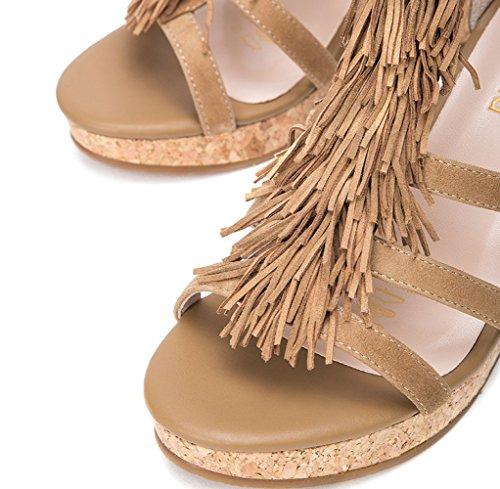 Mode Abrikos Sko Søde Høje Kvinder Flad Sommer Hæle Ensfarvet Lav Hæle Casual Sandaler Spids Dhg 36 aw6qX1xIgI