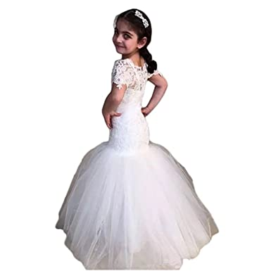 9cf62aa7f3 Kalos Dress Shop Vintage Dresses Lace Mermaid Girls Weddings First  Communion Flower Girl Dresses Ivory