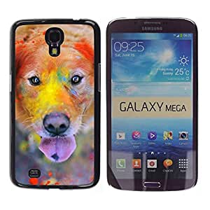 YiPhone /// Prima de resorte delgada de la cubierta del caso de Shell Armor - Labrador Retriever Golden Dog Colorful - Samsung Galaxy Mega 6.3 I9200 SGH-i527