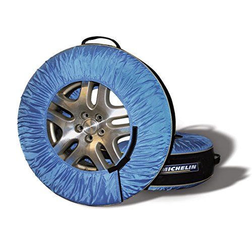 MICHELIN Black/Blue 80 Tire Covers & Tire Bags-Pack of 4, 4 -