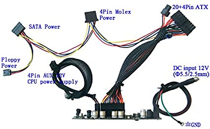 250w dc-atx 12v mini itx power supply | pico atom htpc car auto psu