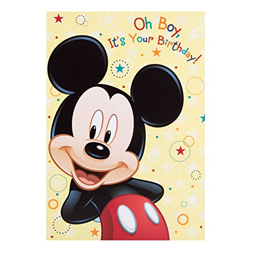 Hallmark Mickey Mouse Birthday Card 'Oh Boy' - Medium