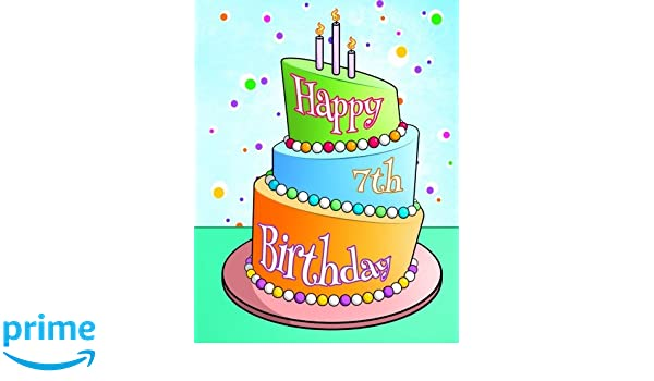 Happy 7th Birthday Journal Notebook Diary 105 Lined Pages