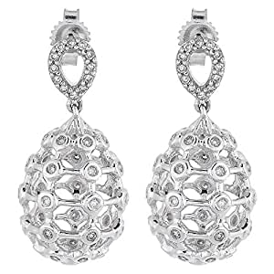 eternal Jewels Ladies 18K White Gold Drop & Dangle earrings