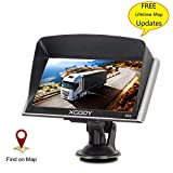 Xgody Truckers GPS 826 Capacitive Touchscreen 7 Inch Car GPS Navigation System NAV with Lifetime Maps Updates