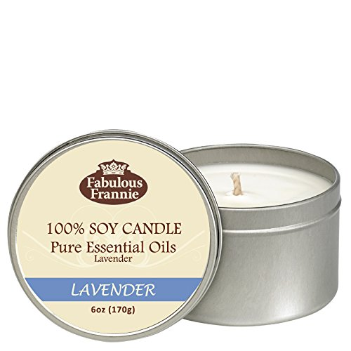 Fabulous Frannie Lavender 100% Pure & Natural Soy Candle 6 o