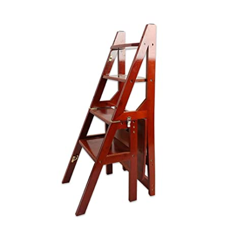 Step Stool Wooden- Escaleras de Tijeras Taburete Plegable ...