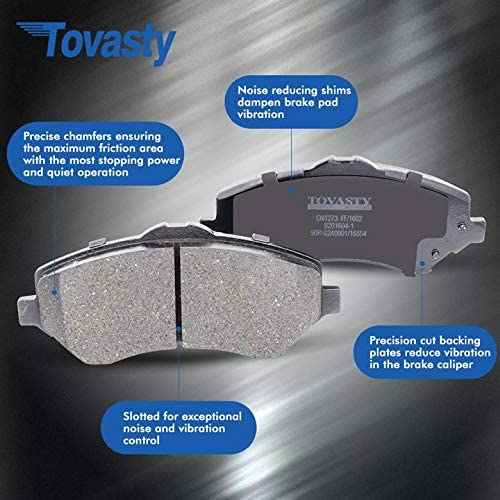 Tovasty Front Brake Kit /& Hardware Clips /& Brake Cleaner /& Gloves for 02 2002 03 2003 04 2004 05 2005 06 2006 Nissan Altima BK710110411 OE Series Rotors /& Ceramic Pads