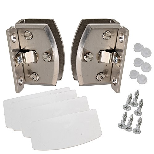 BQLZR A Pair 90 Degree Side Mount Glass Door Cupboard Showcase Cabinet Clamp (Side Cupboard)