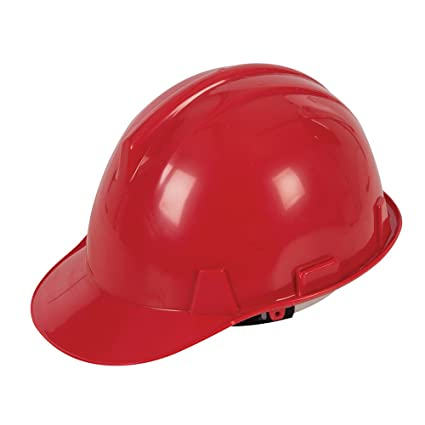 Silverline 868668 - Casco de seguridad (Rojo)