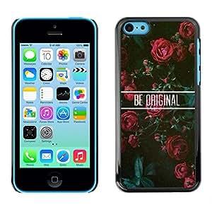 SKCASE Center / Funda Carcasa - Rosas floral motivación;;;;;;;; - iPhone 5C