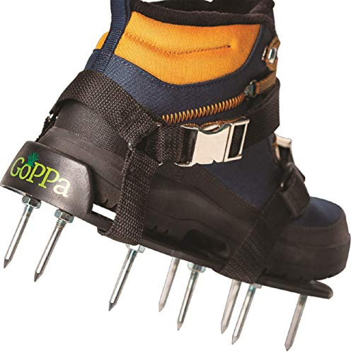 GoPPa Lawn Aerator Shoes - Comfort - Easiest to FIT & Fully Assembled Aerator Sandal, You only FIT Once on Your Gardening Shoes. Ready for aerating Your Yard, Lawn & Grass by GoPPa