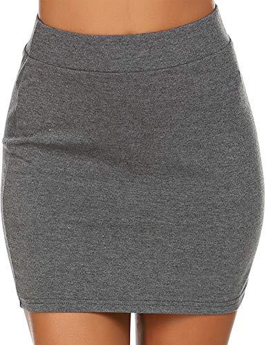 - Zeagoo Women's Basic Stretch One Layered Tube Mini Skirt