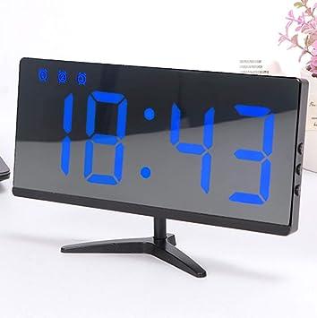 Televisor Reloj despertador con espejo electrónico, ajuste de ...