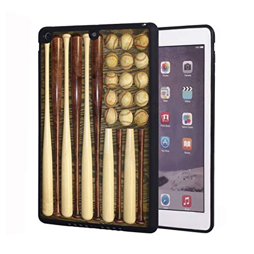 iPad 2017 9.7 inch Case,iPad Air Case,Vintage Baseball Combination American Flag Design Shockproof Anti-Scratch TPU Rubber Protective Case Cover for Apple iPad 9.7 inch 5th Generation