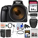 Nikon Coolpix P1000 4K 125x Super Zoom Digital Camera with 64GB Card + Battery & Charger + Case + Tripod + Filter Kit