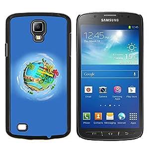Planetar® ( Tierra de la historieta del parque de atracciones de agua ) Samsung Galaxy S4 Active i9295 Fundas Cover Cubre Hard Case Cover