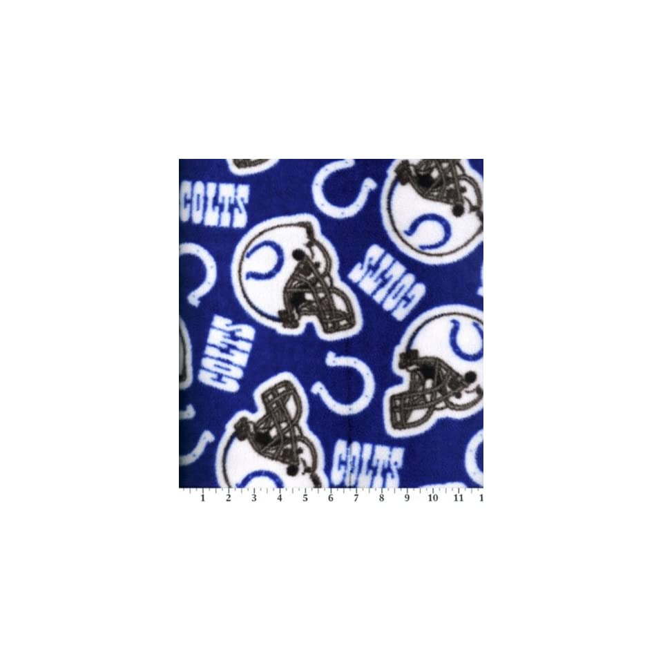 NFL Indianapolis Colts Football Fleece Fabric Print By the Yard